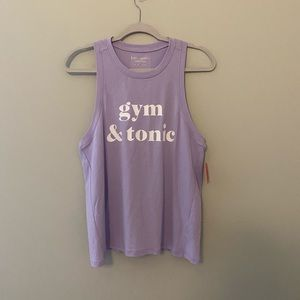 NEW Kate Spade Gym and Tonic Purple Tank Top NWT
